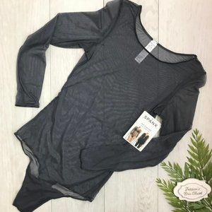 SPANX Sheer Fashion Mesh Thong Bodysuit 20119R NWT
